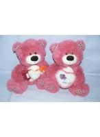 МИ Медведь 0030 (с сердцем розовый) (мягкая игрушка)