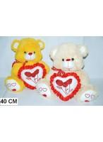МИ Медведь 0040 (с сердцем) (мягкая игрушка)